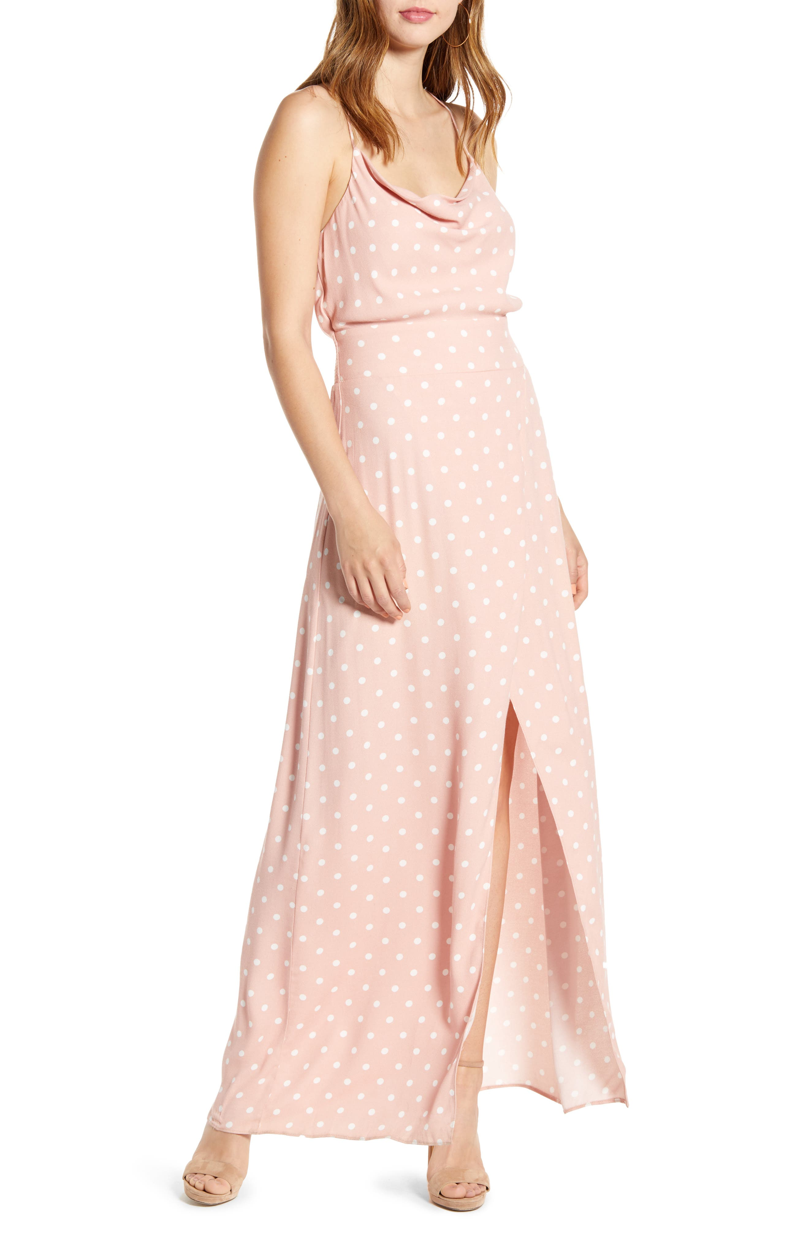Afrm Rain Maxi Dress, Pink