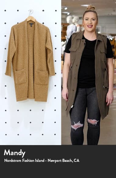 Straight Open Front Long Cardigan, sales video thumbnail