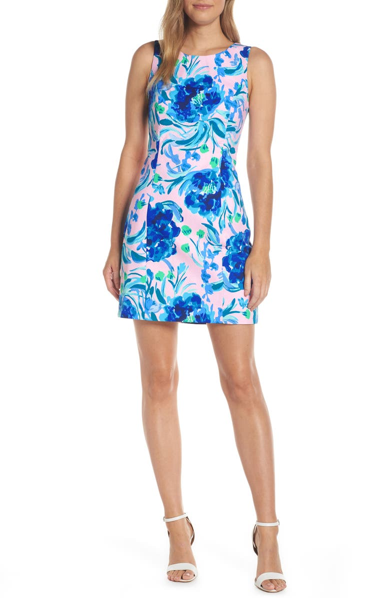 LILLY PULITZER<SUP>®</SUP> Mila Sheath Dress, Main, color, PINK TROPICS TINT SWEET PEA