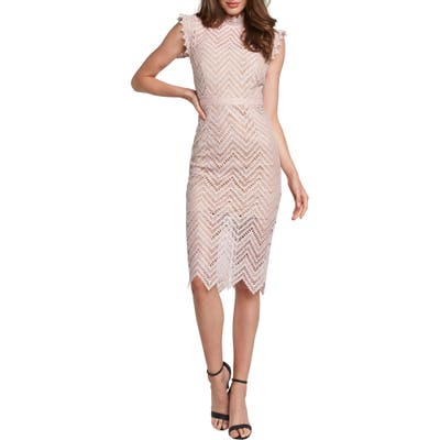 Bardot Imogen Lace Body-Con Dress, Pink