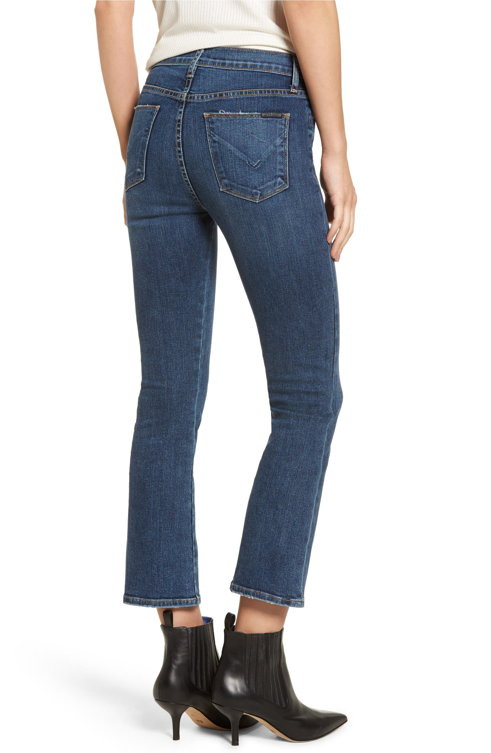 2892ab93c90 Hudson Jeans Bullocks High Waist Lace-Up Crop Flare Jeans (Stone Cold) |  Nordstrom