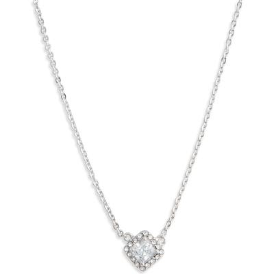 Nordstrom Halo Cubic Zirconia Square Pendant Necklace