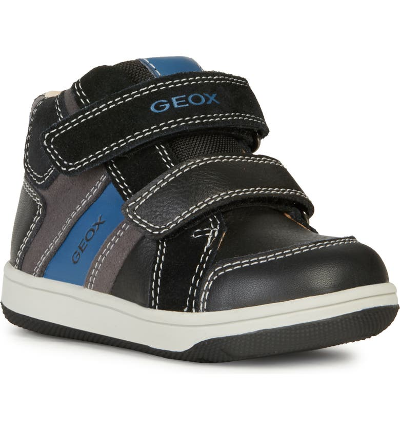 GEOX Flick 12 Sneaker, Main, color, BLACK/ ANTHRACITE