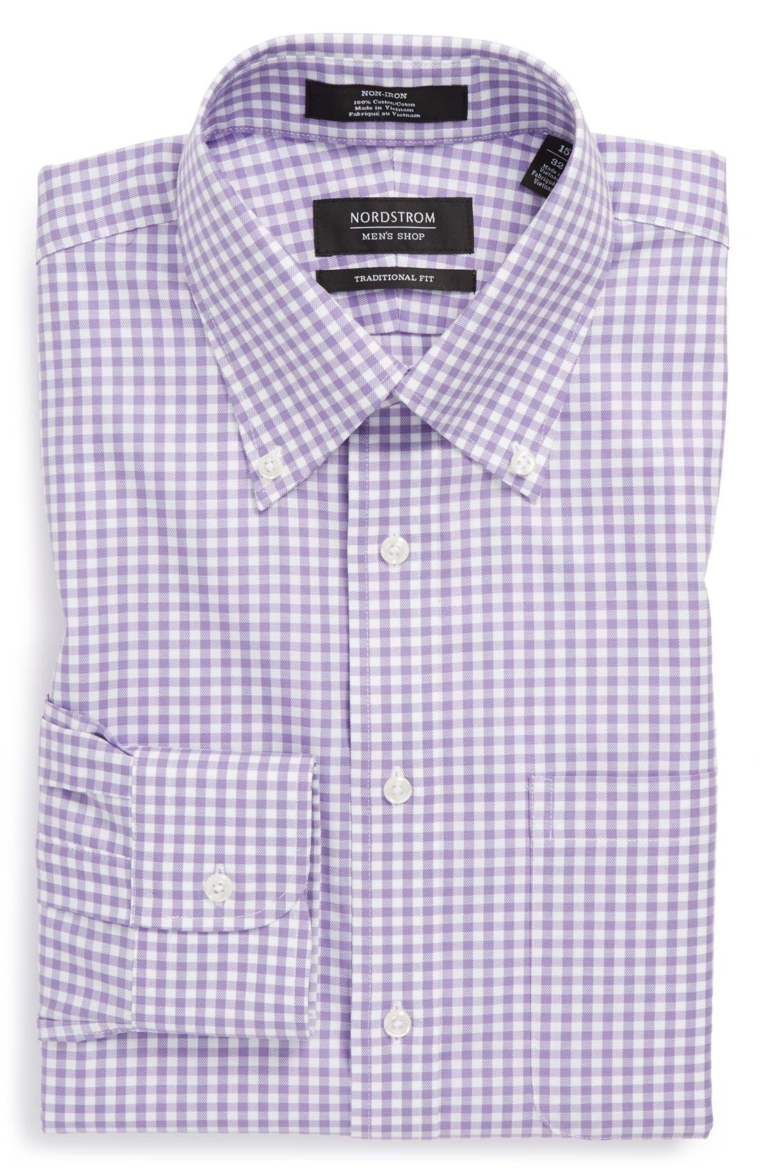 ,                             Traditional Fit Non-Iron Gingham Dress Shirt,                             Alternate thumbnail 21, color,                             500