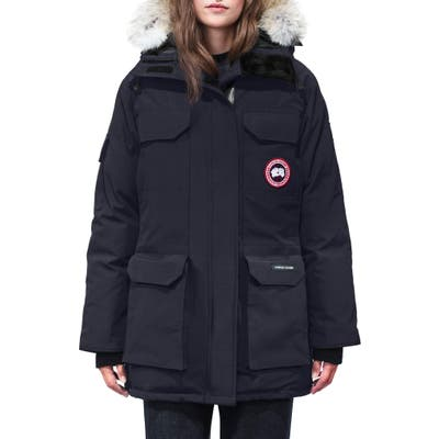 Canada Goose Expedition Hooded Down Parka With Genuine Coyote Fur Trim, (2-4) - Blue