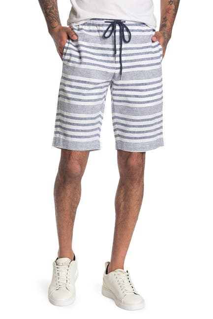 Image of Paisley & Gray Wiltshire Linen Blend Stripe Shorts