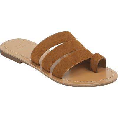 Marc Fisher Ltd Rilee Slide Sandal, Brown
