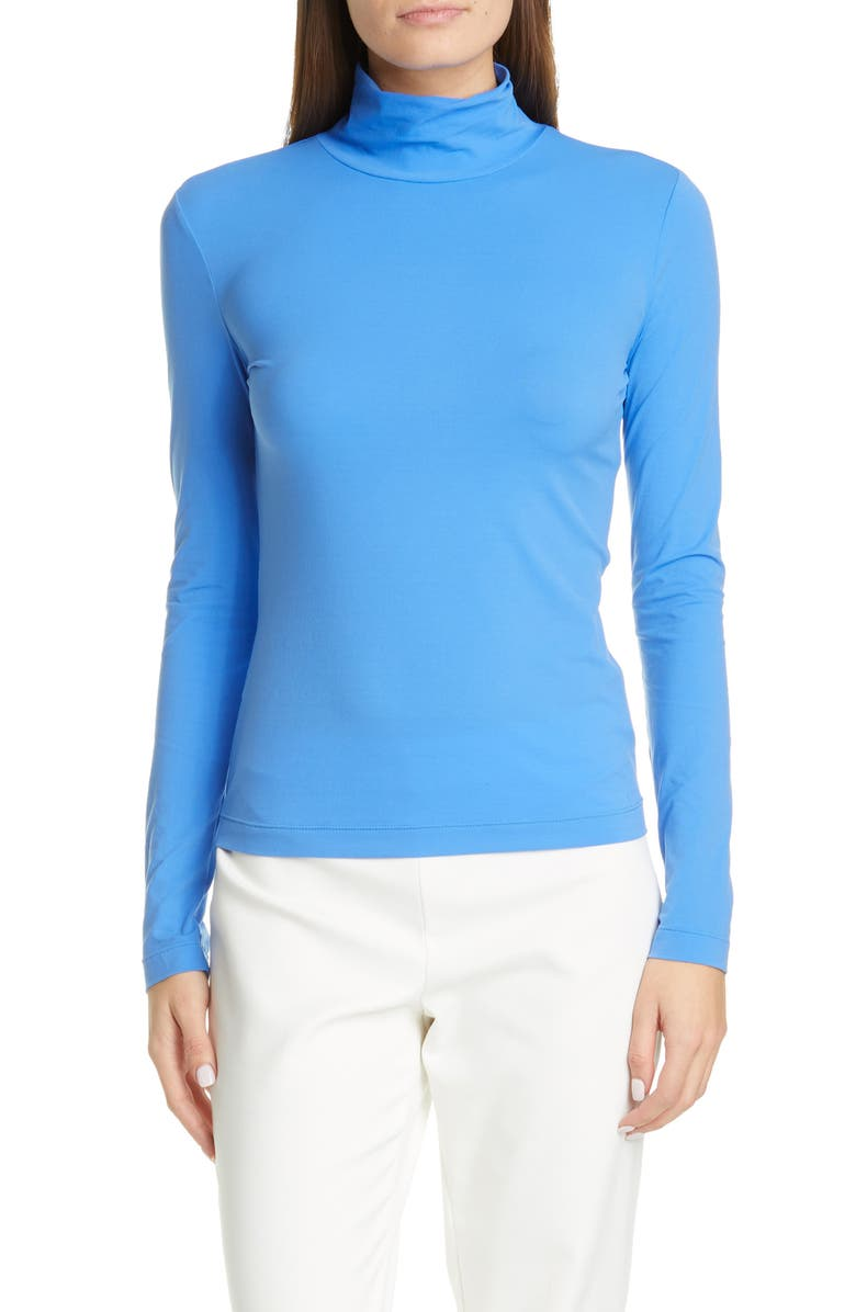 ST. JOHN COLLECTION Nuda Jersey Turtleneck, Main, color, SOFT OASIS