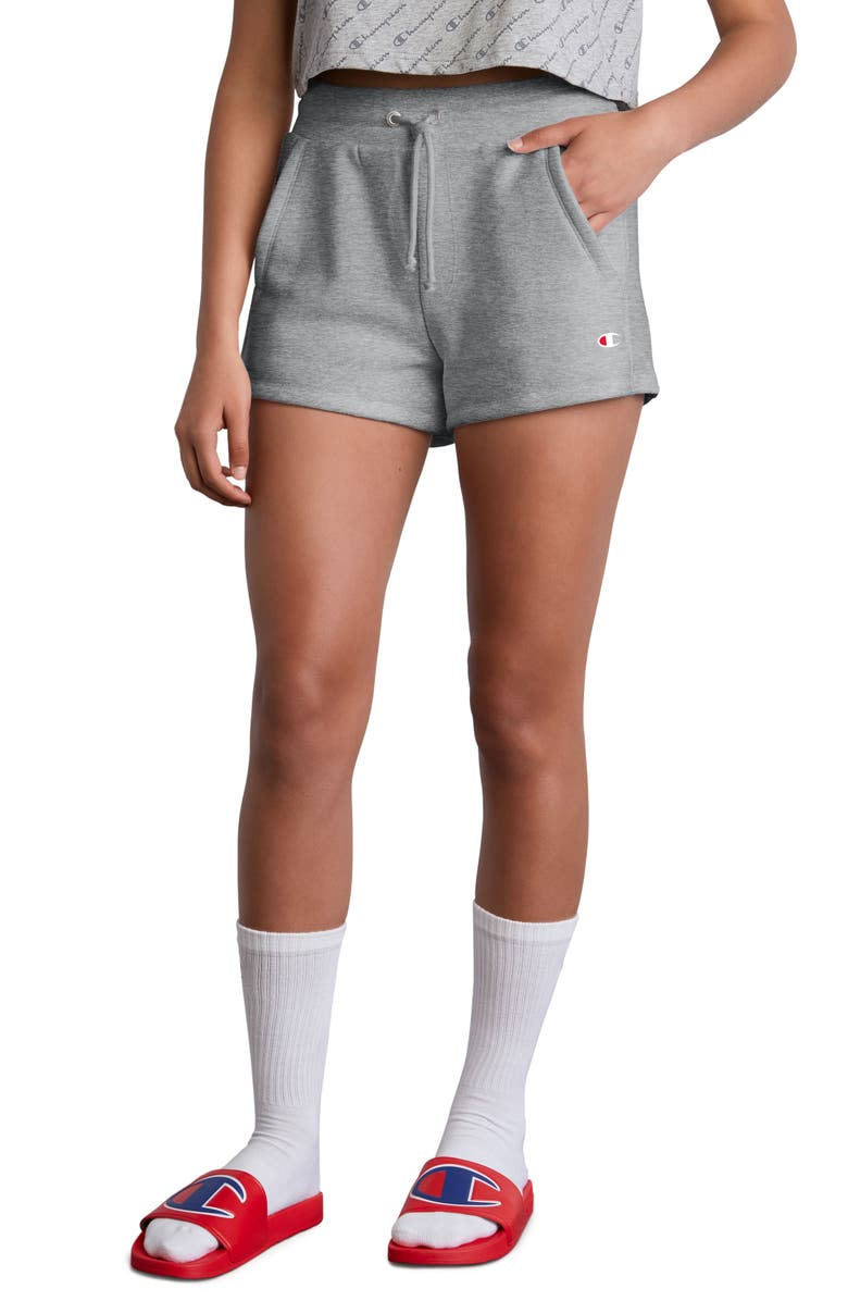 CHAMPION Reverse Weave Shorts, Main, color, OXFORD GREY