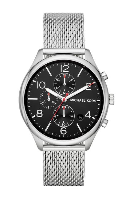 Image of Michael Kors Men's Merrick Chronograph Mesh Bracelet Watch, 42mm