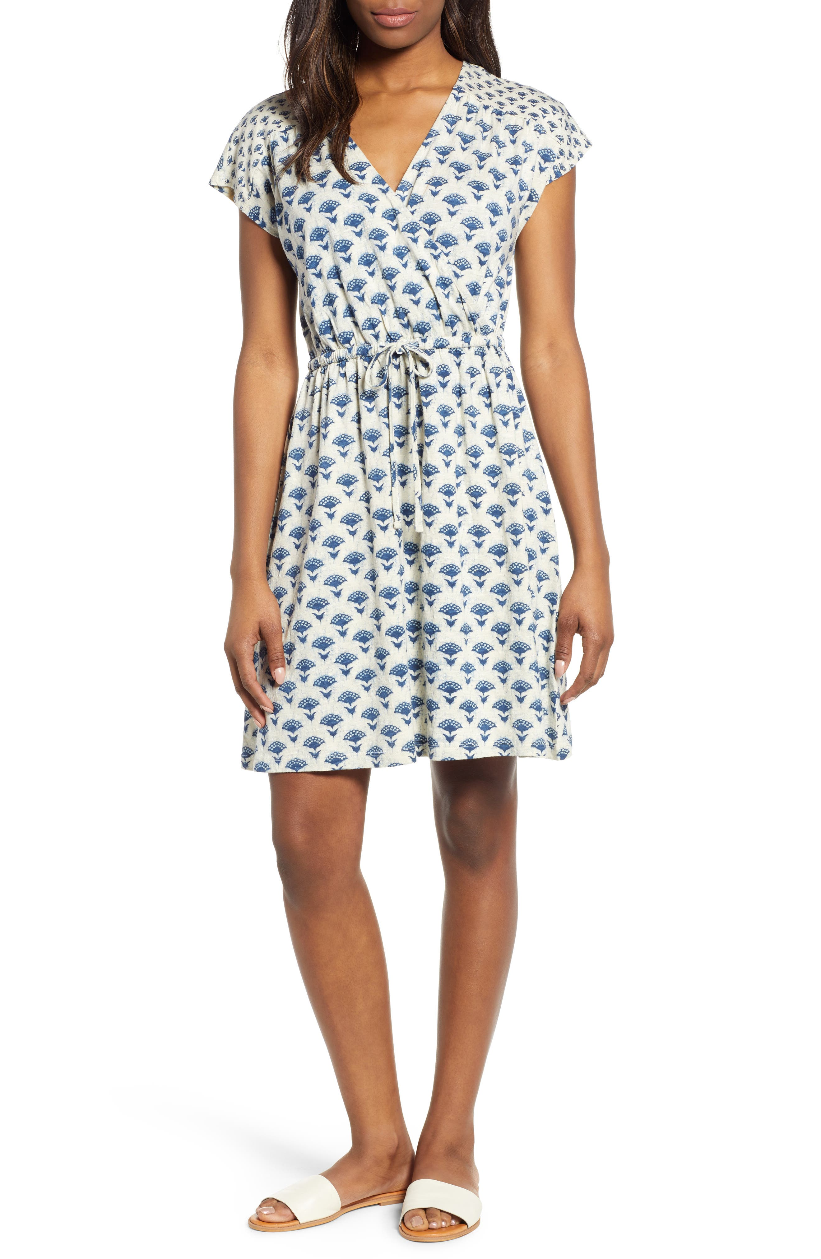Lucky Brand Print Mini Dress, Blue