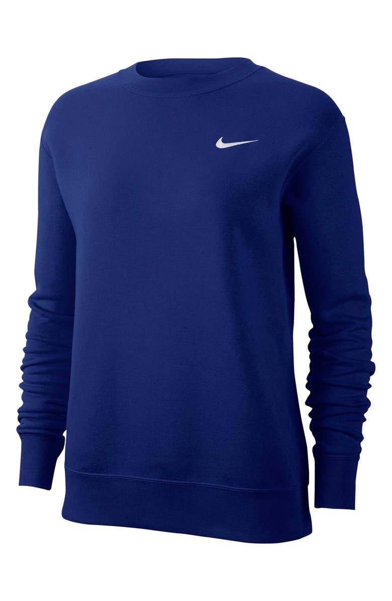 NIKE Sportswear Essential Loose Fit Fleece Sweatshirt, Main, color, 400