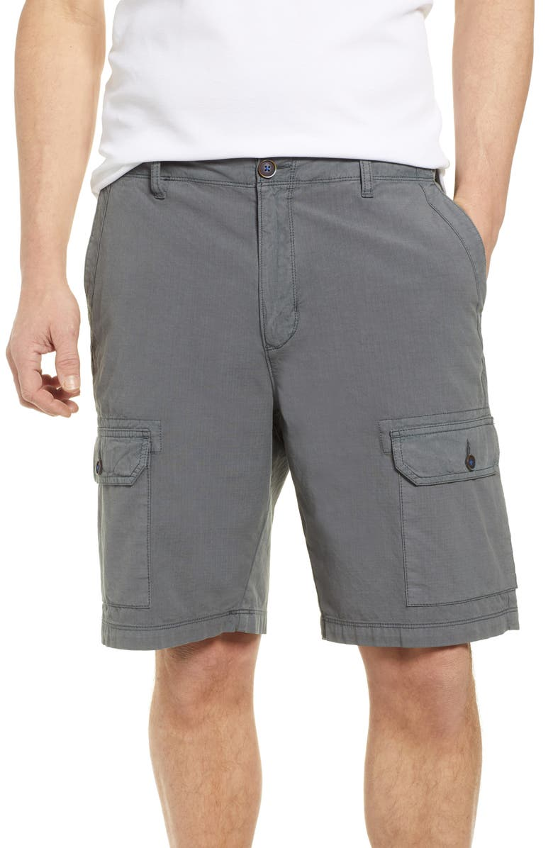 TOMMY BAHAMA Riptide Classic Fit Ripstop Cargo Shorts, Main, color, FOG GREY