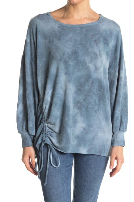 Image of FINAL TOUCH Oversized Pullover with Ruched Sides