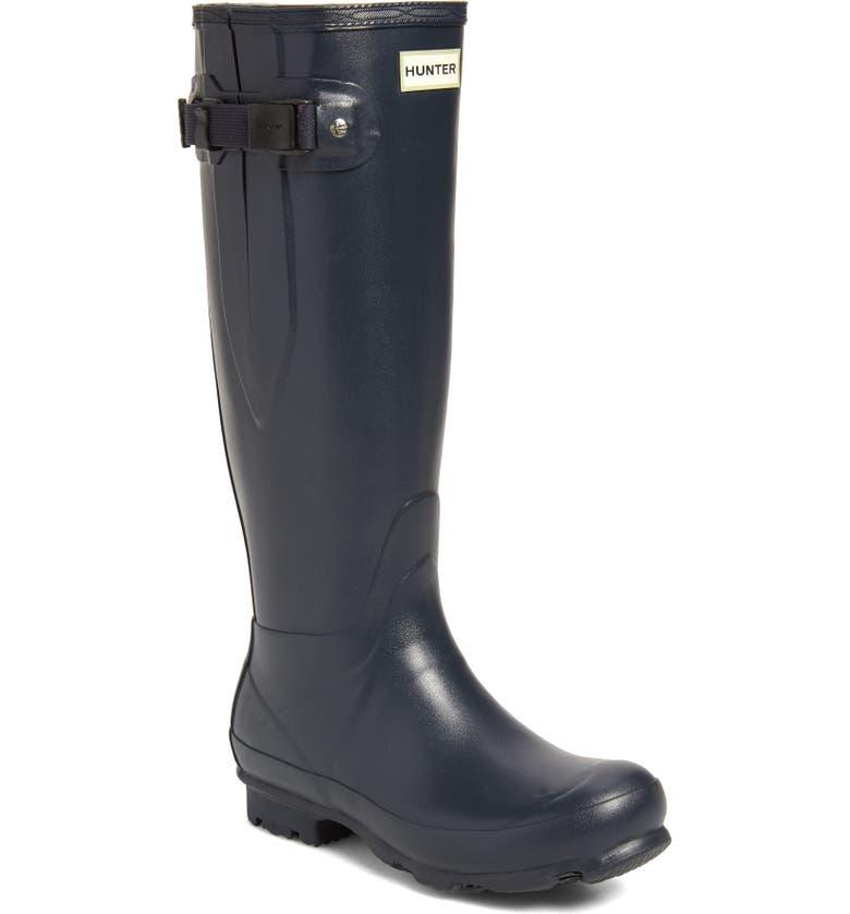 HUNTER 'Norris Field' Boot, Main, color, NAVY
