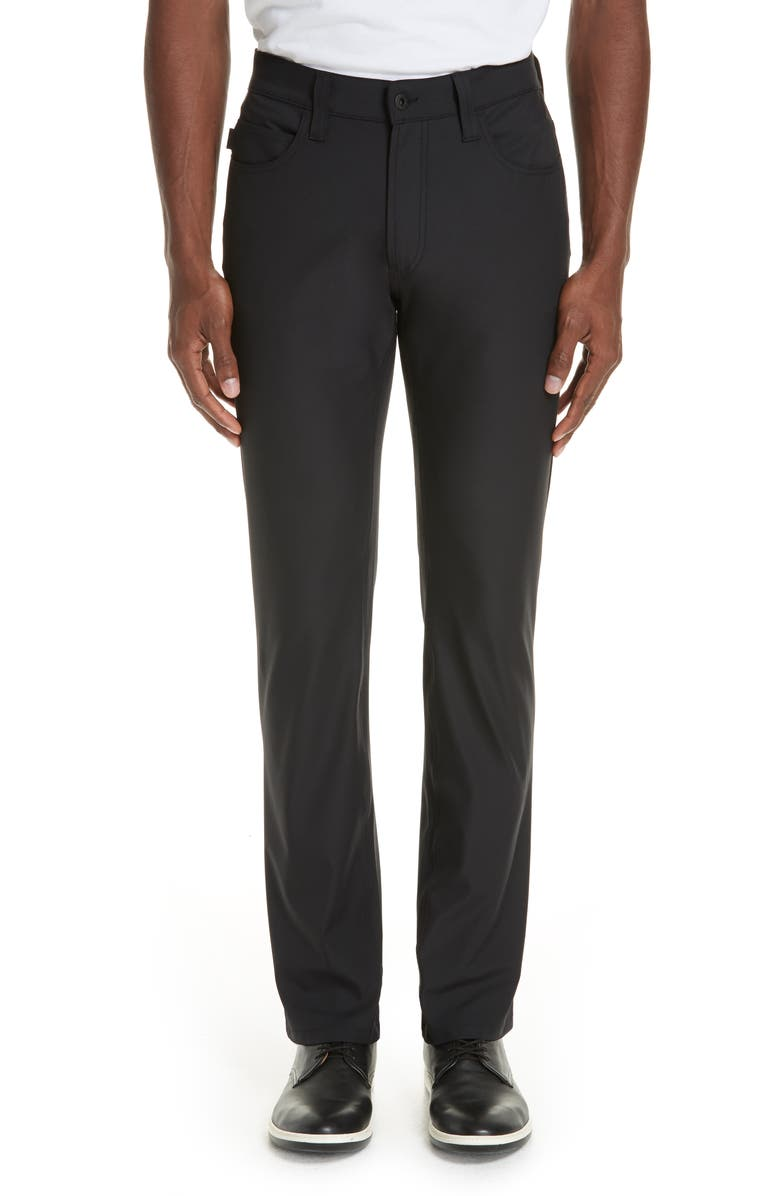 EMPORIO ARMANI Five Pocket Stretch Pants, Main, color, NERO