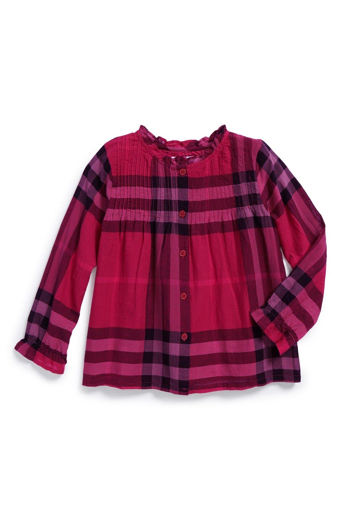 Check Woven Cotton Shirt, Main, color, 651