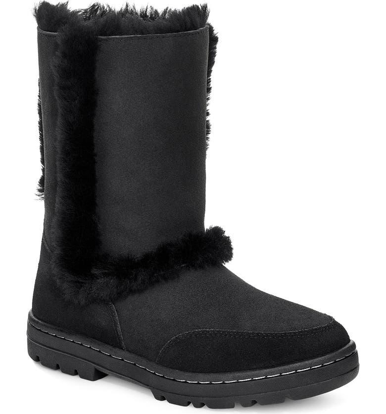 UGG<SUP>®</SUP> Sundance II Revival Short Boot, Main, color, BLACK SUEDE