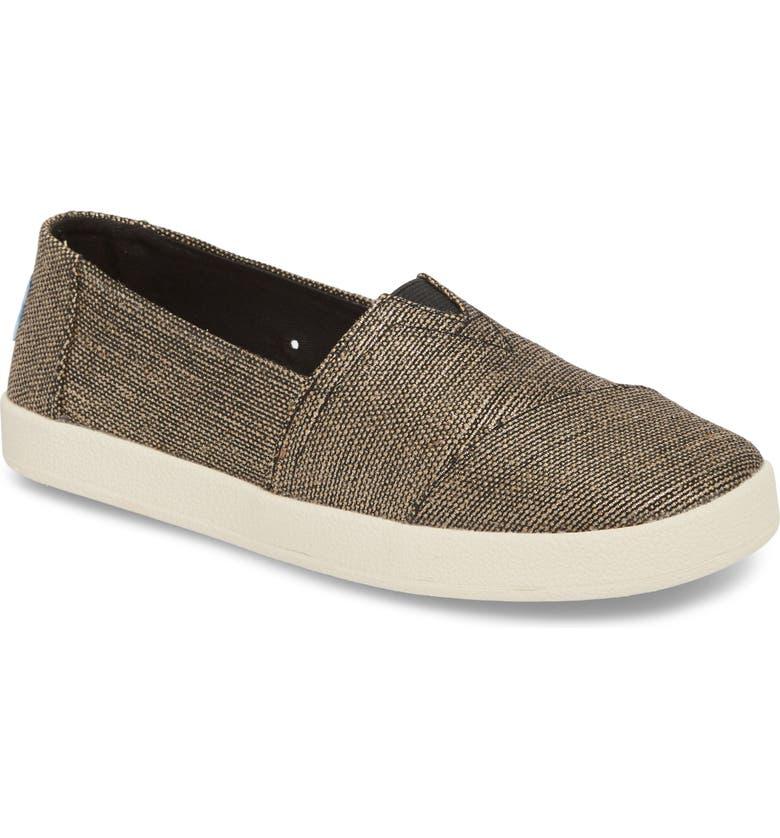 TOMS Avalon Slip-On Sneaker, Main, color, 001
