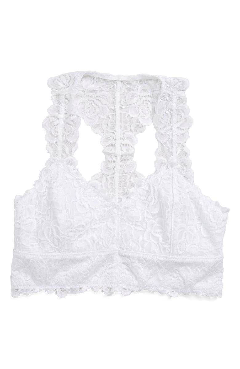 TUCKER + TATE Lace Bralette, Main, color, WHITE
