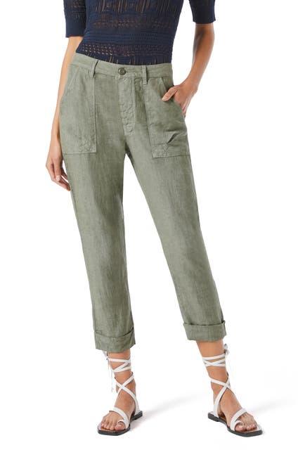 Image of FRAME Le Beau High Waist Crop Linen Pants