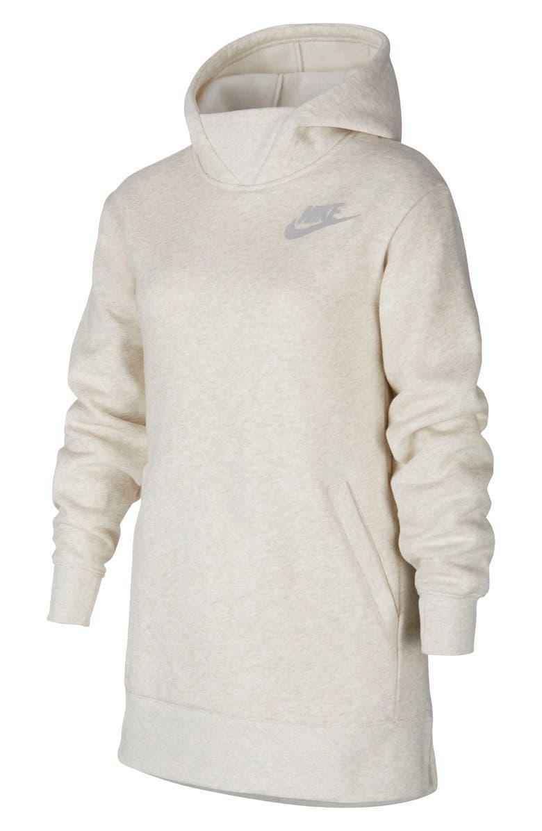 NIKE Longline Fleece Hoodie, Main, color, 008