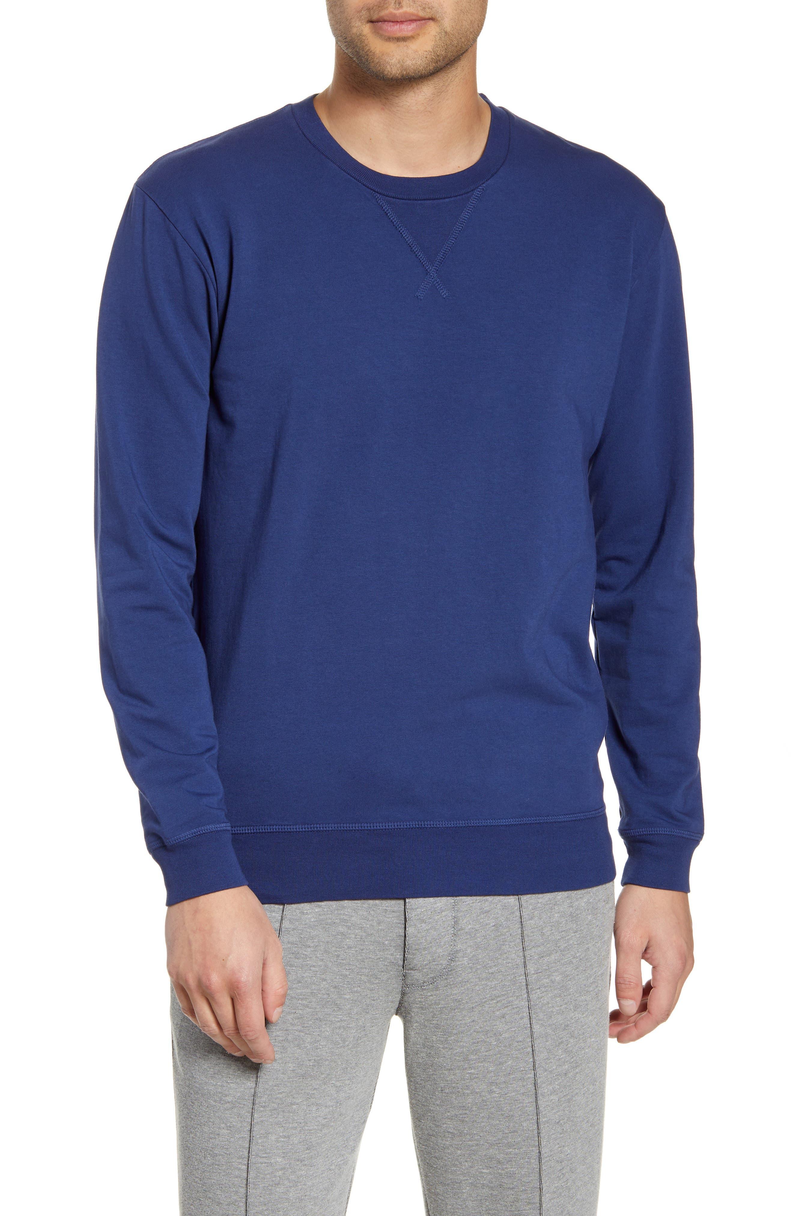 Slim Micro Terry Crewneck Sweatshirt