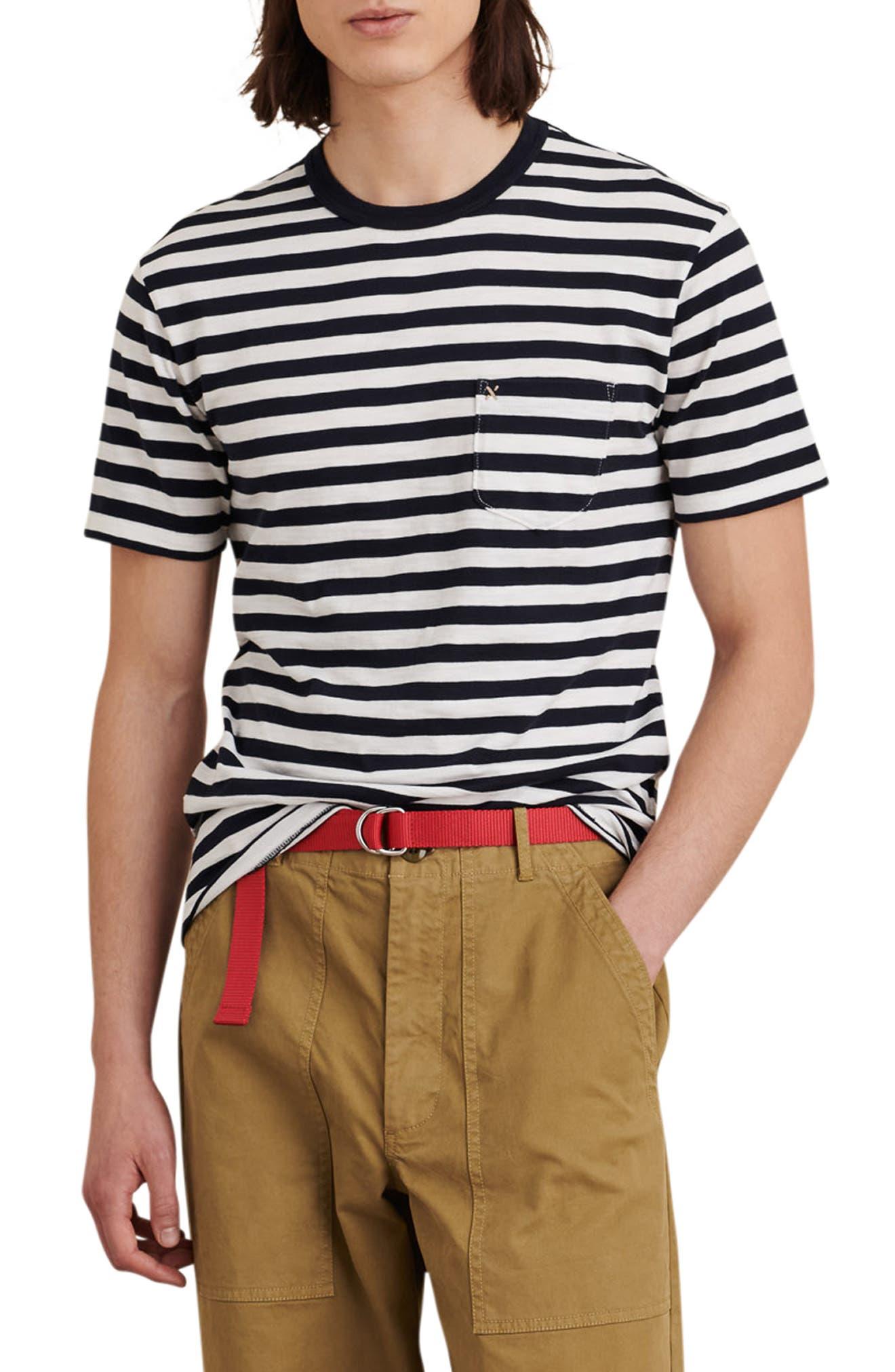 Slub Stripe Pocket T-Shirt