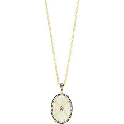 Freida Rothman Imperial Mother Of Pearl Pendant Necklace