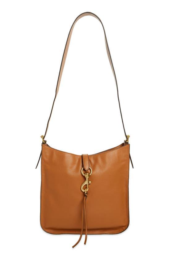 Rebecca Minkoff Megan Leather Shoulder Bag In Caramello
