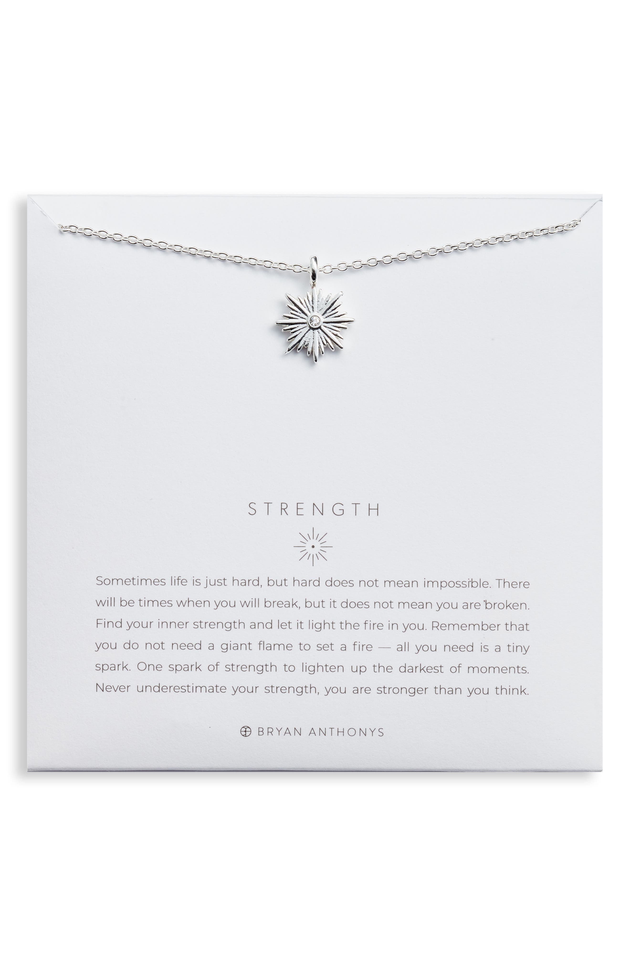 Strength Pendant Necklace in Silver at Nordstrom