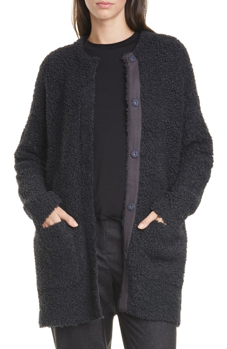 EILEEN FISHER Front Button Cardigan, Main, color, 021