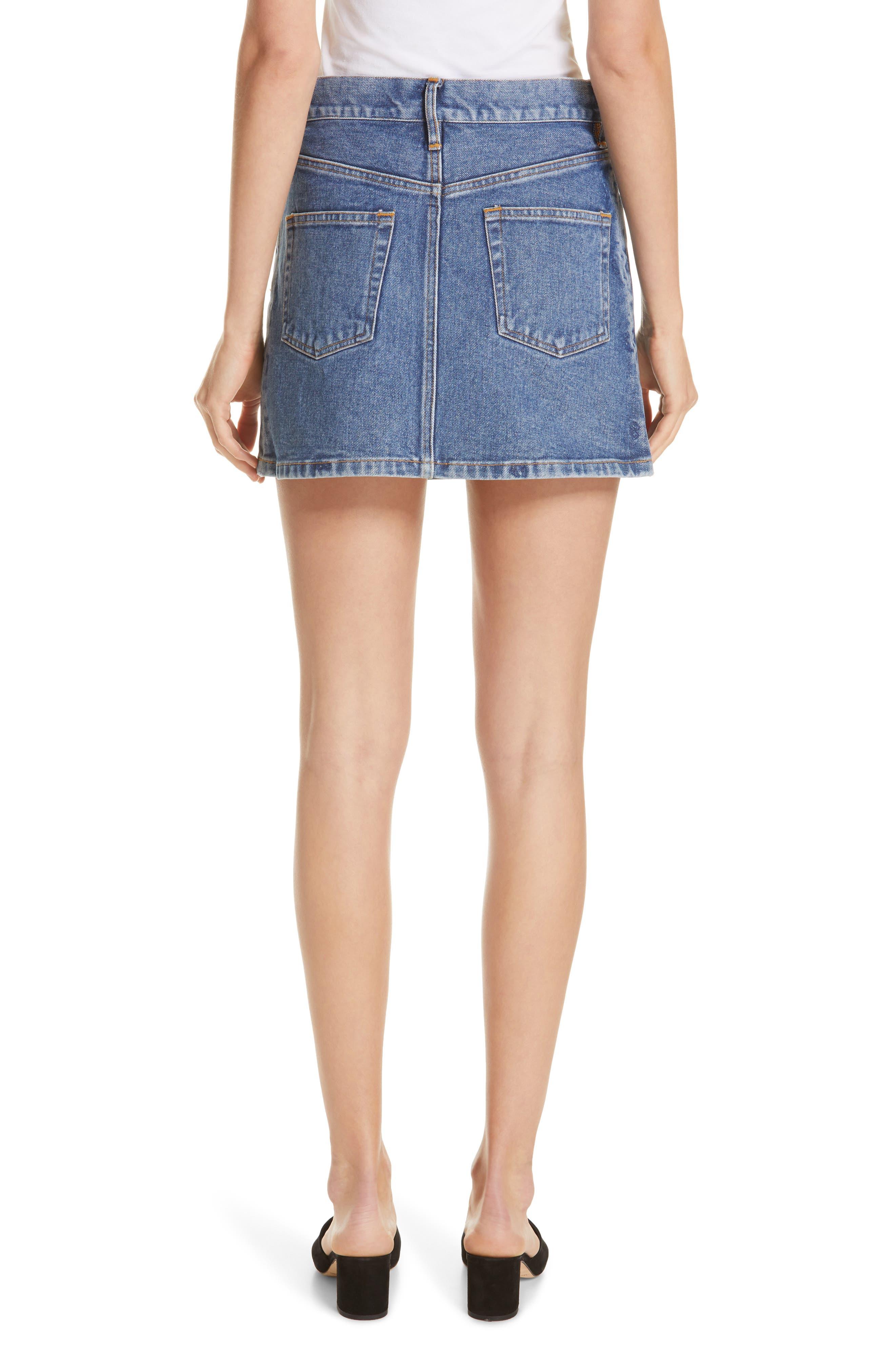 ,                             Denim Miniskirt,                             Alternate thumbnail 2, color,                             VINTAGE WASH 4