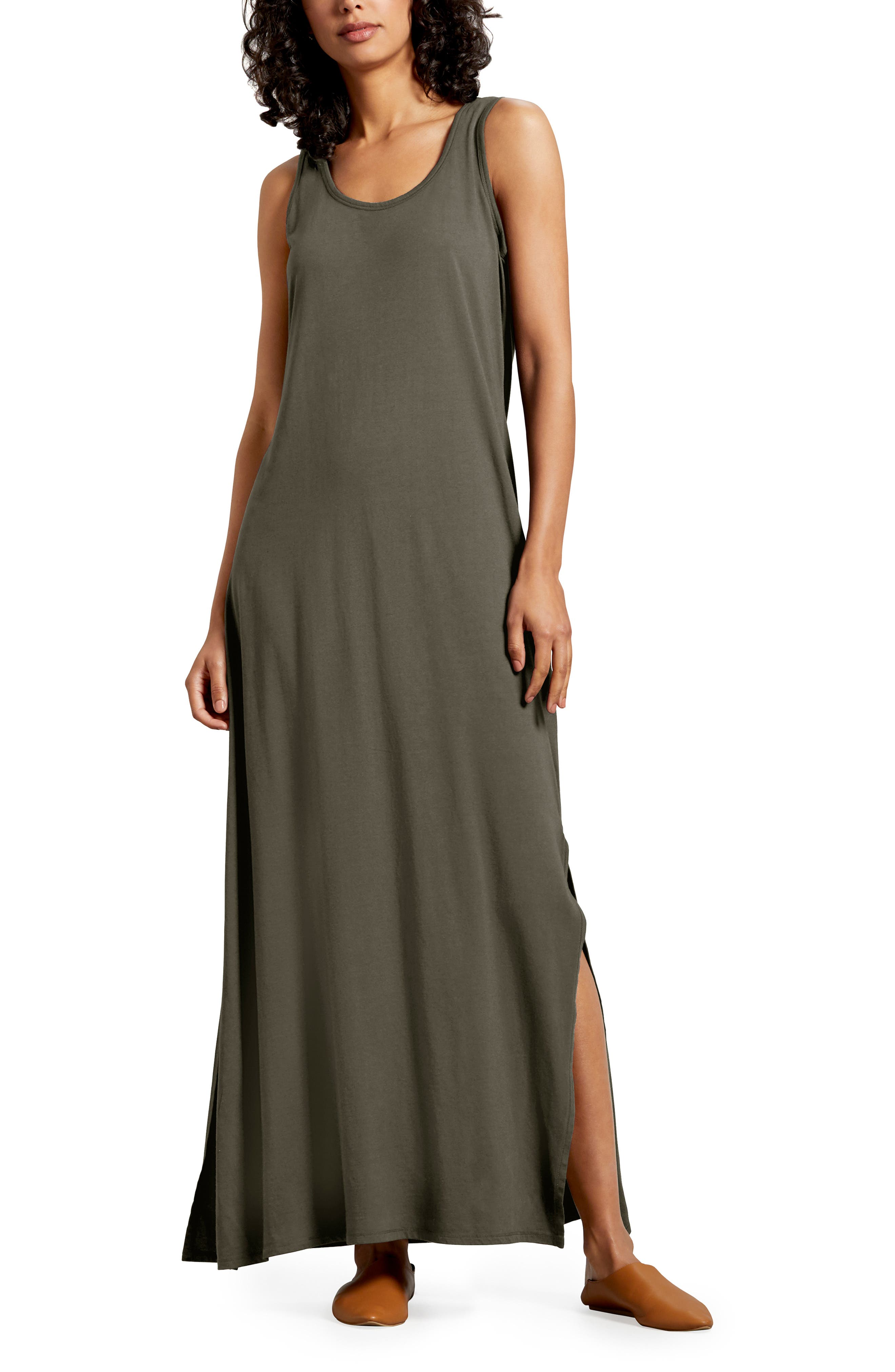 Michael Stars Isabelle Cotton & Modal Maxi Dress, Green