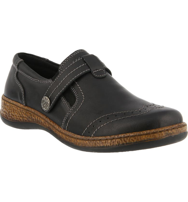 SPRING STEP Smolqua Loafer, Main, color, BLACK LEATHER