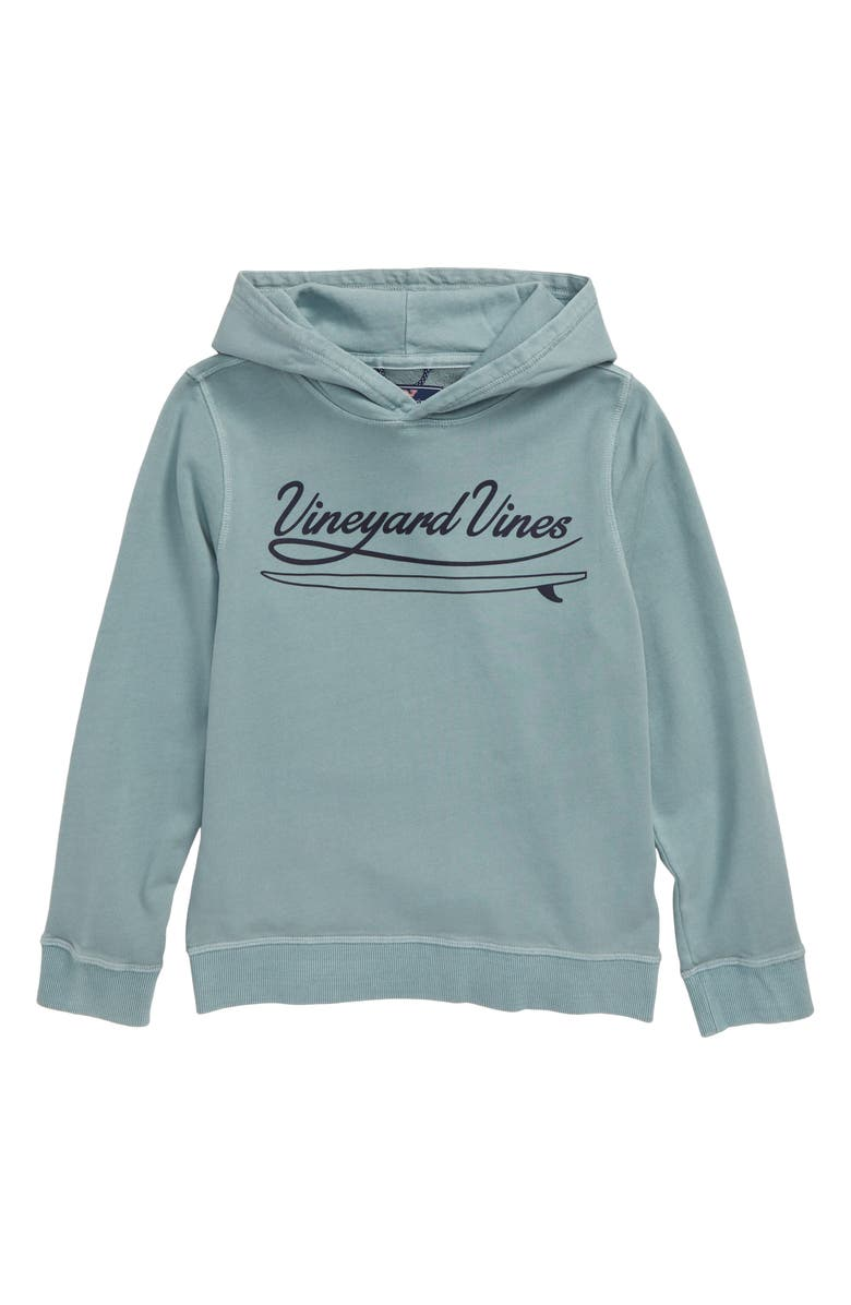 VINEYARD VINES Garment Dyed Logo Hoodie, Main, color, SEACLIFF BLUE