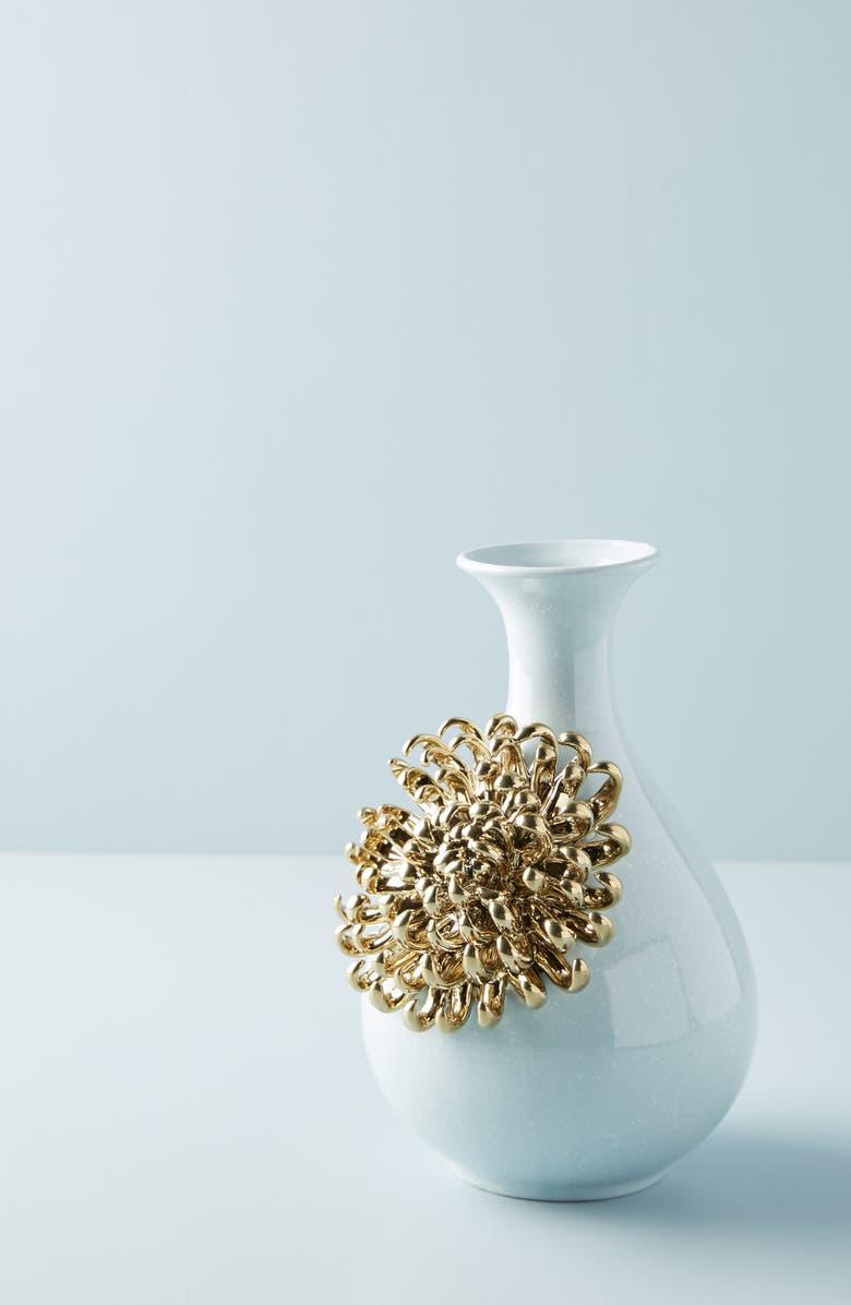 ANTHROPOLOGIE Bloom Vase, Main, color, BLUE