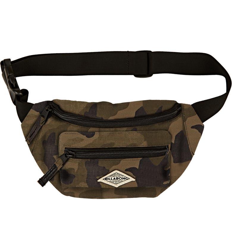 BILLABONG Zip It Canvas Belt Bag, Main, color, CAMO