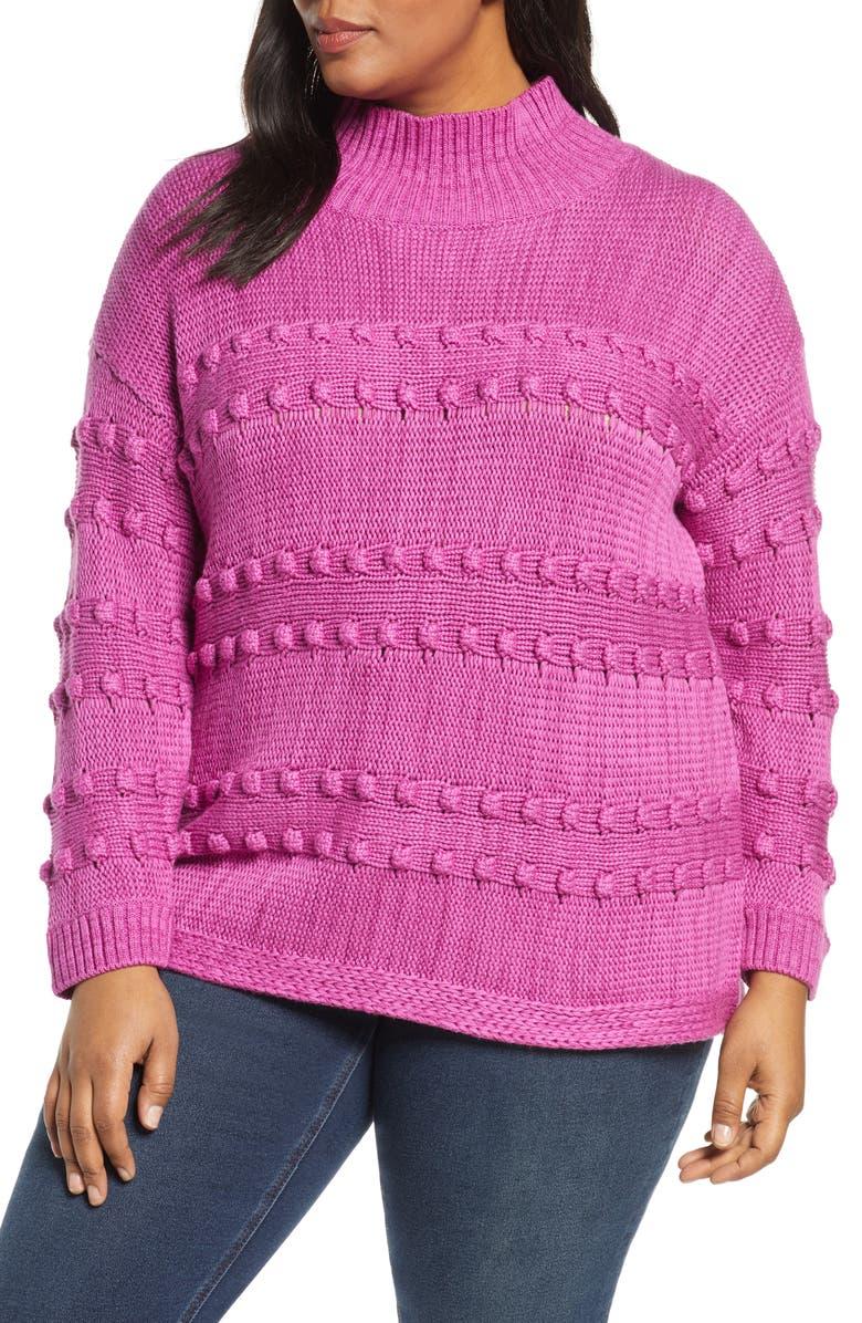 NIC+ZOE Adore A Ball Sweater, Main, color, FUCHSIA