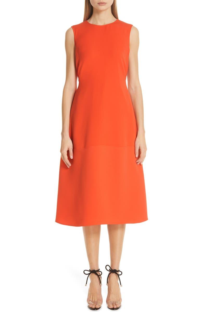 ADEAM Belted Parachute Midi Dress, Main, color, 827