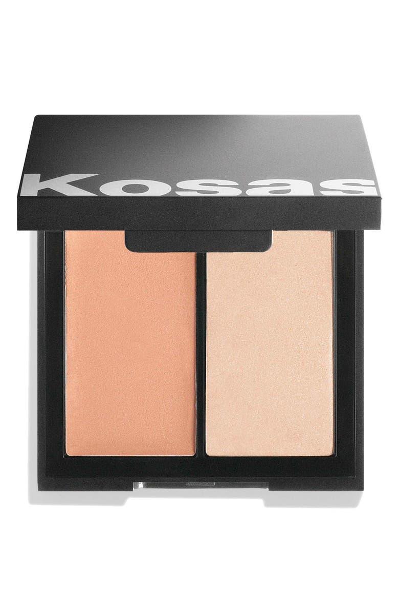 KOSAS Color & Light Intensity Cream Blush & Highlighter Palette, Main, color, 250