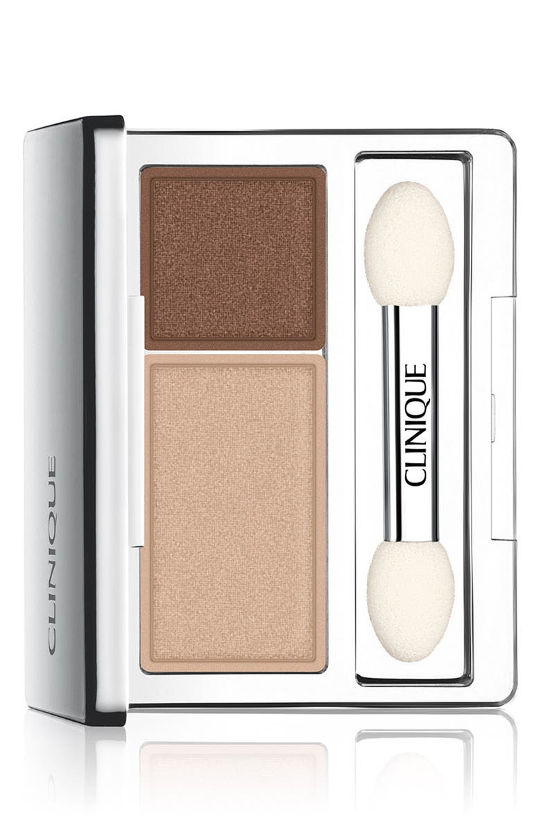 CLINIQUE All About Shadow Eyeshadow Duo, Main, color, LIKE MINK NEW