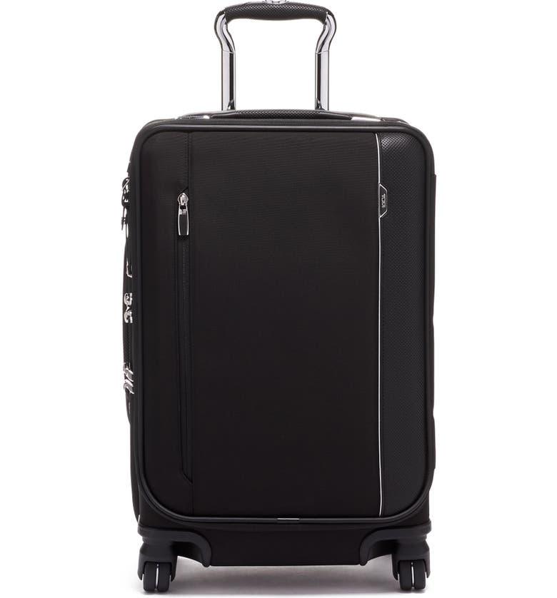 TUMI Arrivé 22-Inch International Rolling Carry-On, Main, color, BLACK