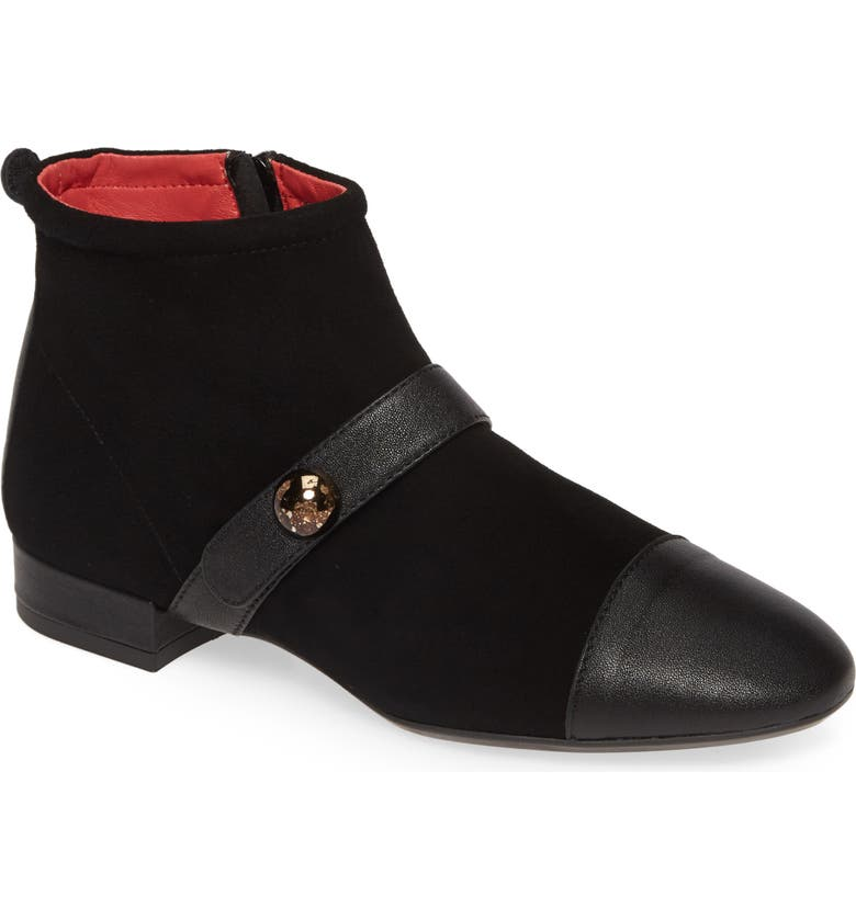PAS DE ROUGE Daria Bootie, Main, color, BLACK MULTI