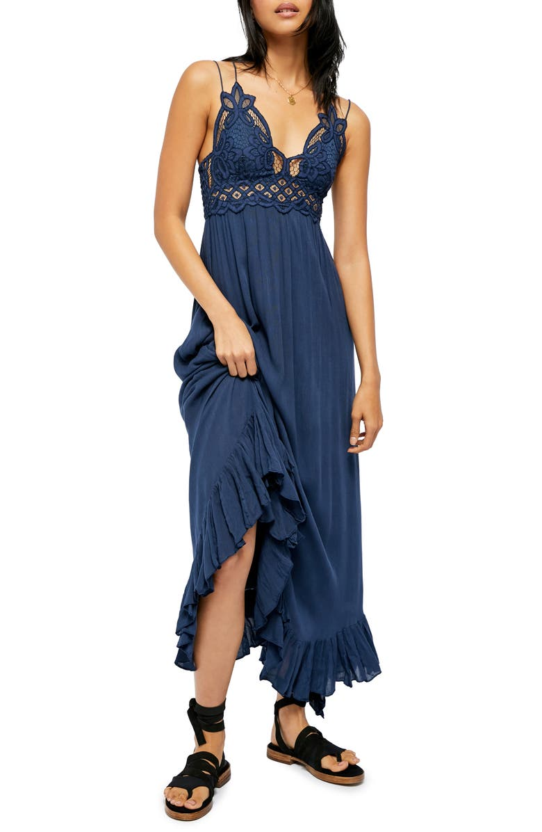 FREE PEOPLE Adella Maxi Slipdress, Main, color, MIDNIGHT BLUE