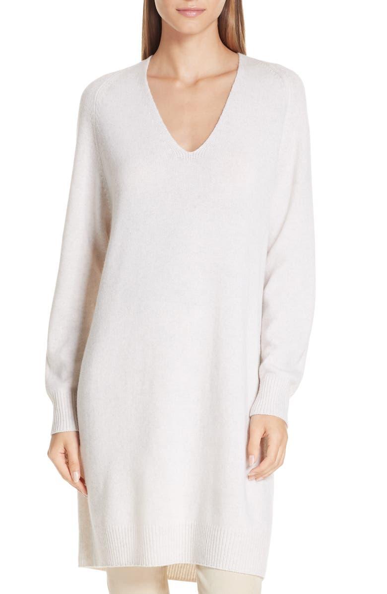 VINCE Deep V-Neck Sweater Dress, Main, color, 165