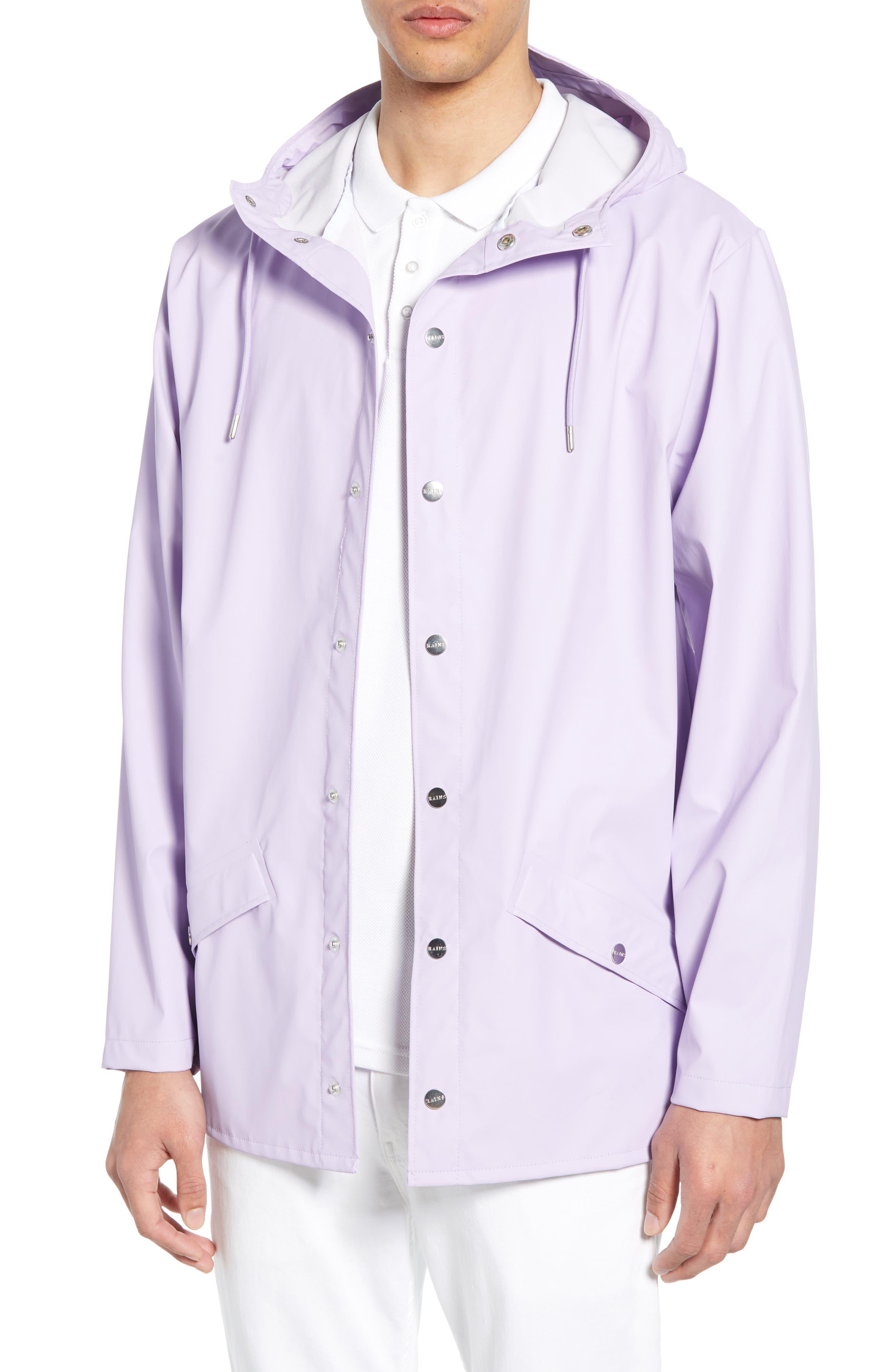 Rains Lightweight Hooded Rain Jacket, Purple