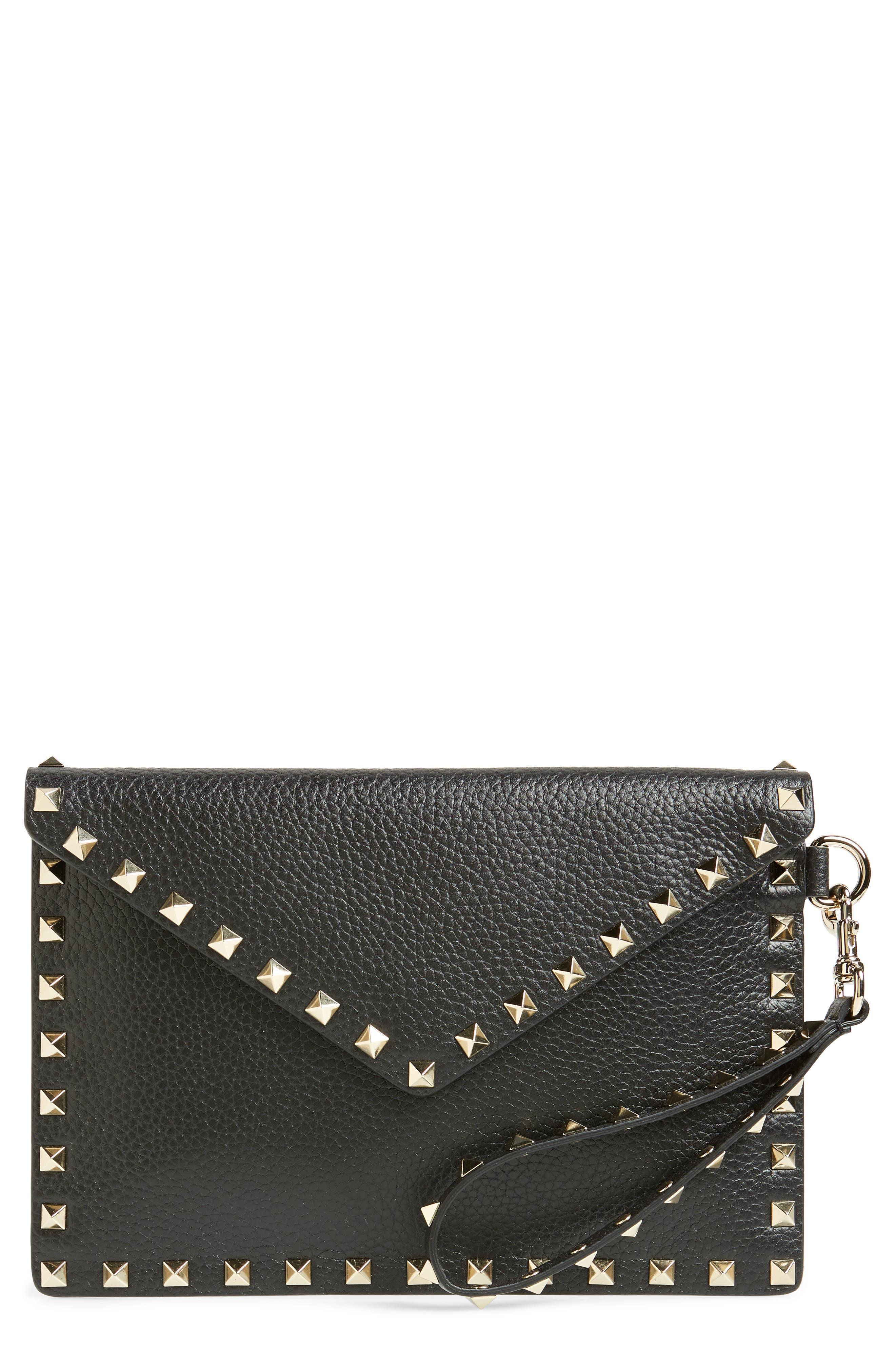 Valentino Garavani Medium Rockstud Leather Envelope Pouch   Nordstrom