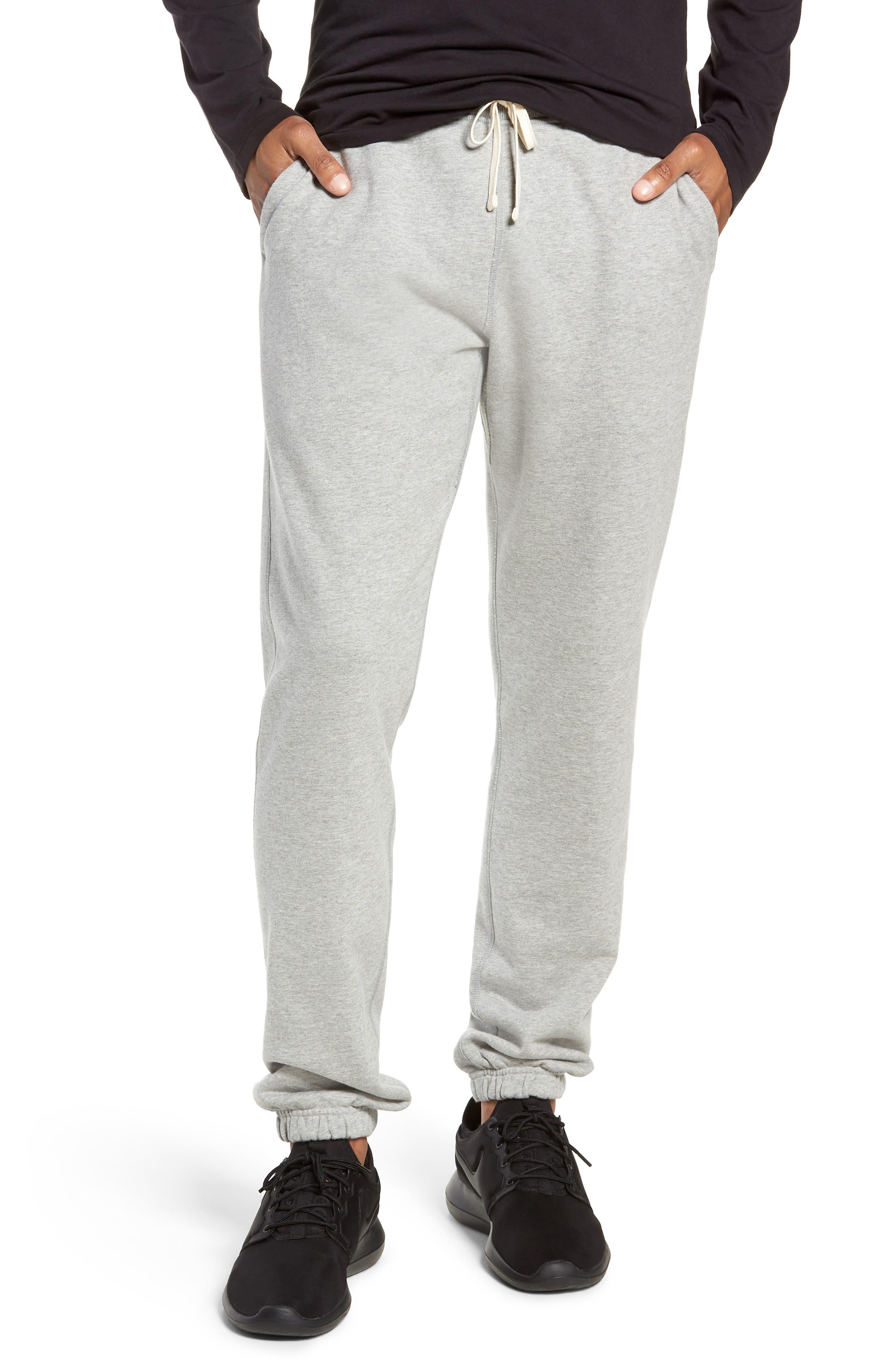 Cotton Jogger Pants, Main, color, HEATHER GREY