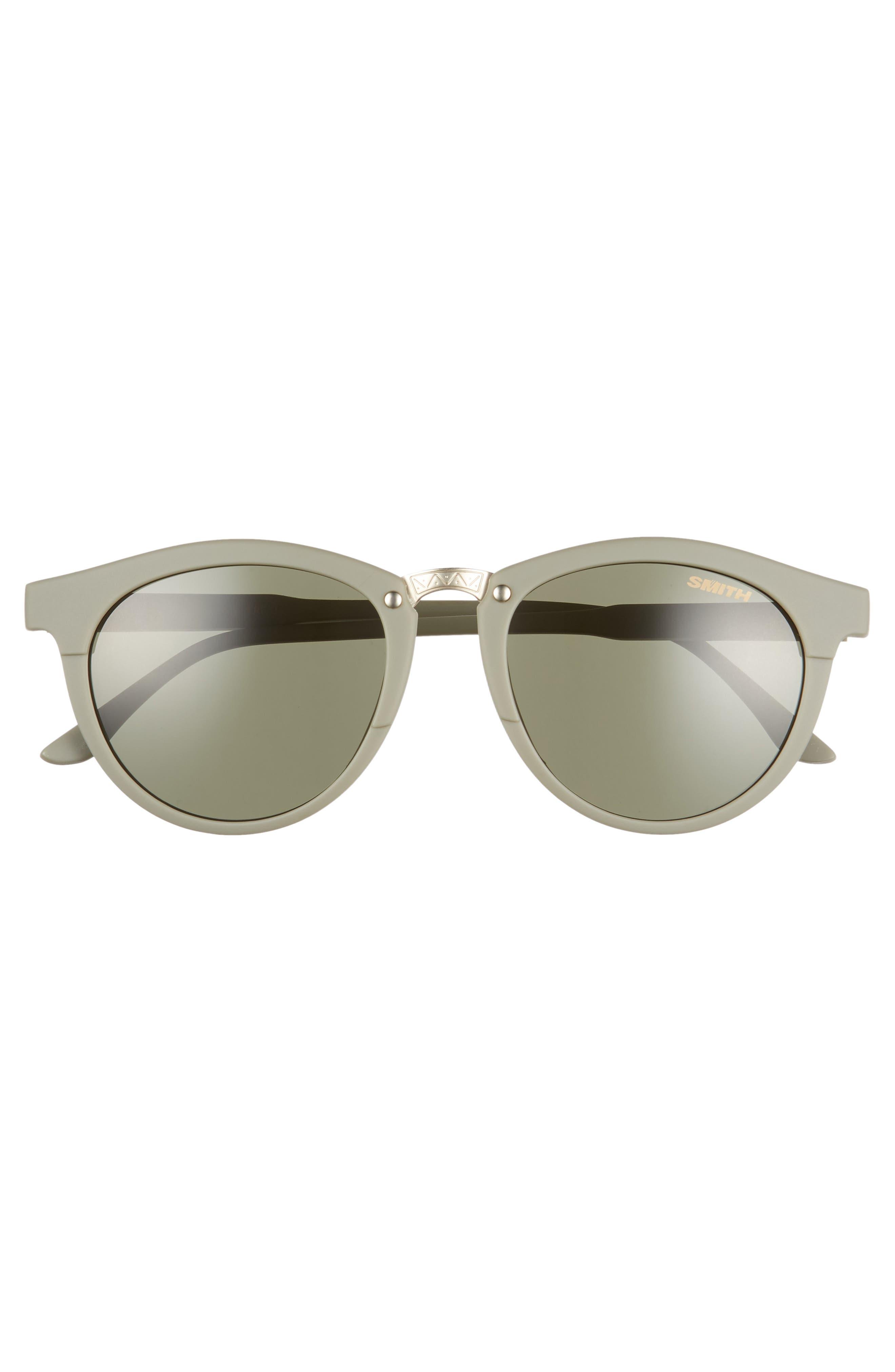 ,                             Questa 50mm ChromaPop<sup>™</sup> Polarized Round Sunglasses,                             Alternate thumbnail 3, color,                             GREY/ MATTE SAGE
